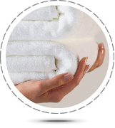 Commercial Laundry - Contract hire, soft fluffy white towels