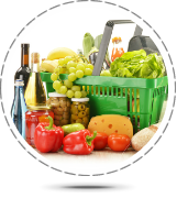 Property Management - Food packs, A basket of shopping